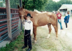 My horse Eli and I at 4-H fair in 2000