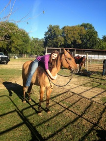 My horse Mac and I before going on a trail ride